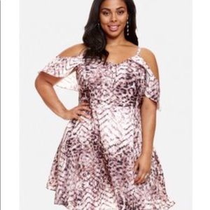 Fashion to Figure Leopard Print Dress Plus Size 1